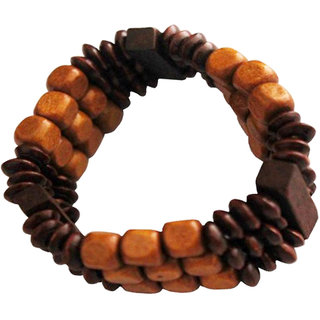 Men Style Multicolor Geomatric  Wood Fashion  Bracelet