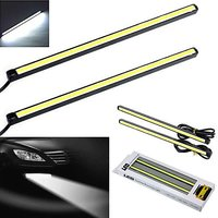 All Cars Bike Waterproof White Cob LED 17 cm Fog DRL Daytime Running Light 6000K