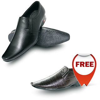 Buy Black Shoes & Get Brown Shoes Free