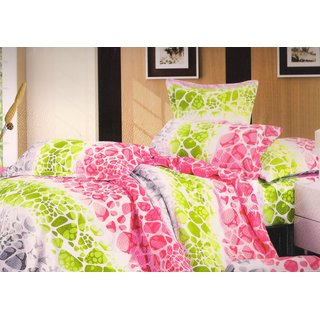 Welhouse India Rock Design Stripes Single bed sheet with 1 pillow cover