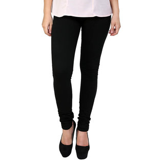 S Redish Black Cotton Leggings ( With Mayani) (Black C)