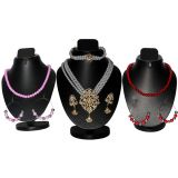 Combo Of Trendy 3 Row Pearl Set With 2 Color Pearl Mala Set D And Y 1046
