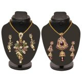 Combo Of 2 Trendy Heavy Pendent Set With Golden Chain D And Y 1048