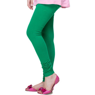 S Redish Green Cotton Leggings ( With Mayani) (Green C)