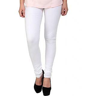 S Redish White Cotton Leggings ( With Mayani) (White C)