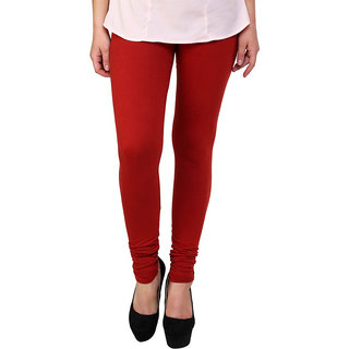 S Redish Red Cotton Leggings ( With Mayani) (Red C)