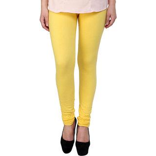 S Redish Yellow Cotton Leggings ( With Mayani) (Yellow C)
