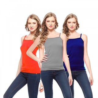 Friskers Women Cotton Camisole Pack of 3