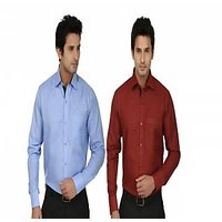 Fizzaro Mens Formal Cotton Shirt Pack of 2