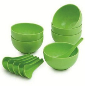 Soup Bowl Set of 12pcs (6 Bowls  6 Soup spoons)