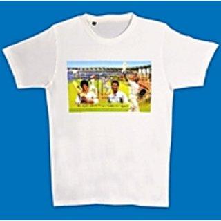 T-Shirt with image of Sachin Tendulkar 200th Test Match Miniature Sheet