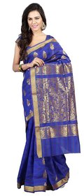 1 Art of Creations Multicolor Cotton Self Design Saree With Blouse