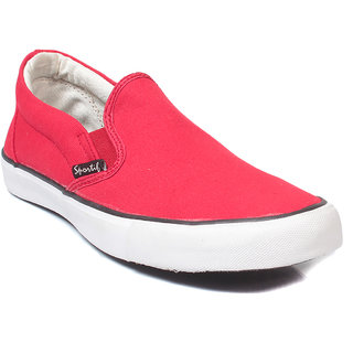 rexona mens canvas classic casual shoes in red
