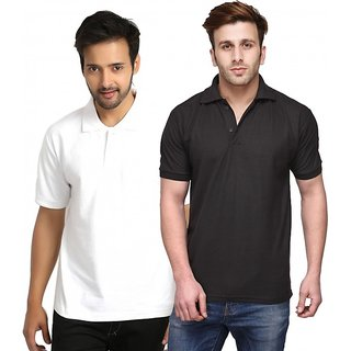 Friskers Men Cotton Polo T-shirt Pack of 2