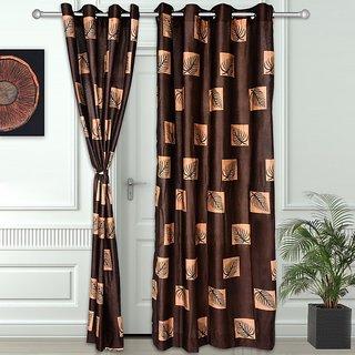 Story @ Home Coffee 2 pc Door curtain-7 feet-DNR3010