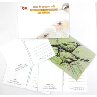 Picture Post Card on Endangered Birds Of India