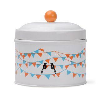 Deziworkz Flag And Birds Design Cookie Jar