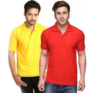 Friskers Men Cotton Polo T-shirt Pack of 2