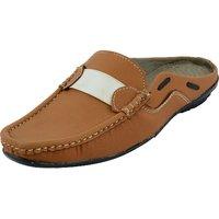 Unisex Brown Slip On Sandals
