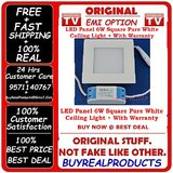 100% Real LED Panel 6W Square Pure White 5730 SMD Light Ceiling Light Lamp