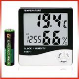 Lcd Temperature Humidity Meter And Clock Hygrometer