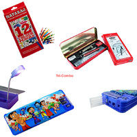 Natraj Multicolor Colour Pencil With Plastic Drawing Kit Led Pencil Box (Assorted Colour)