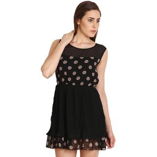 SOIE Womens A-line Partywear Dress