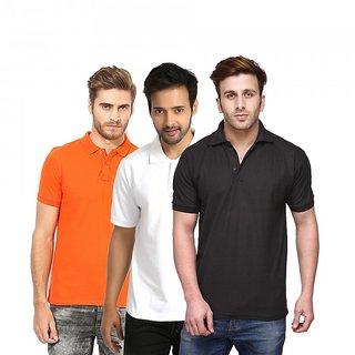 Friskers Men Cotton Polo T-shirt Pack of 3