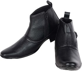 George Adam Black  Synthetic Leather Boots