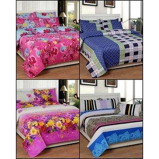 k decor set of 4 double bedsheets(MJS-002)