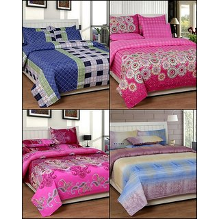 k decor set of 4 double bedsheets(MJS-003)
