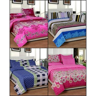 k decor set of 4 double bedsheets(MJS-004)