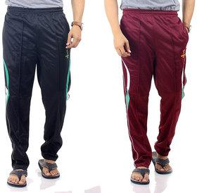 Wajbee Mens Multicolor Cotton Blend Pyjama(Pack of 2)