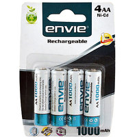 4 AA 1000 Mah Envie Rechargeable Batteries 4 Peices Cell Battery Remotes, Toys