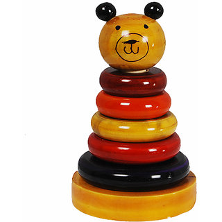 MNC Wooden Handicraft Lacquer Ring Set(TeddyBear) for Stacking  Counting