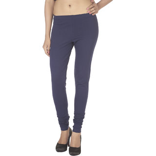 Soie Navy Cotton Solid Leggings