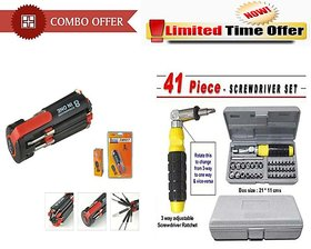 Special Combo Offer! 8 In 1 Multi Screwdriver Set With 41 Pcs Tool Set