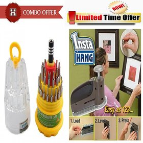 Special Combo Offer! Jackly 31 In 1 Screwdriver Set + Wall Picture Hanging Tool