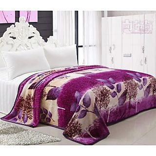 k decor very soft double bed flano blanket(f-001)
