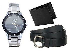 Jack Klein Round Dial Silver Metal Strap Quartz Watch F