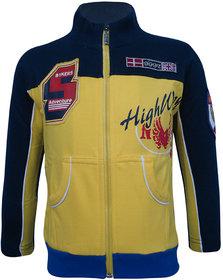 Kothari Boys Casual Yellow Fleece 60 Cotton 40 Polyester Sweatshirt
