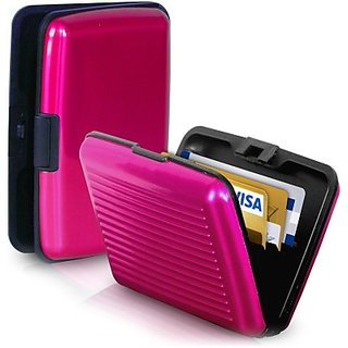 Caryn Use  Fold 10 Card Holder (Set of 1, Pink)