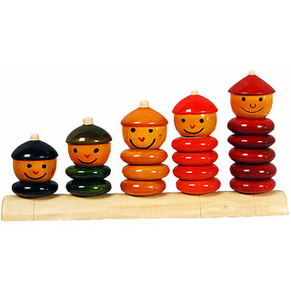 MNC Wooden Handicraft Lacquer Stacker  Counting(Peppy)