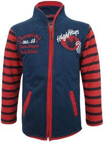 Kothari Boys Casual Navy Blue Fleece 60 Cotton 40 Polyester Sweatshirt