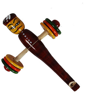 MNC Wooden Handicraft Lacquer Baby Rattle(6 Rings)