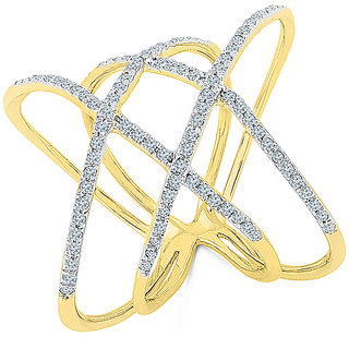 Radiant Bays Enchantment Diamond Cocktail Ring in 14k Yellow Gold (Diamond Quality SI-GH)