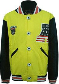 Kothari Kids Casual Yellow Fleece Sweatshirt
