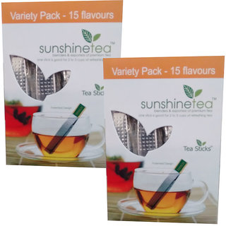 Sunshine Variety Pack Tea - 15 Tea Sticks (Set of 2)