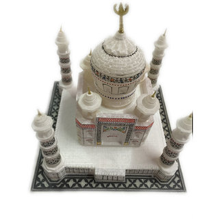 White Marble Taj Mahal Collectible Handicraft Home Decor Gifts(6)