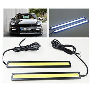Waterproof 2pcs White Cob LED SMD Fog Drl Daytime Running Light